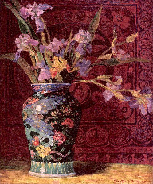 Уильям Марлоу. Цветы в вазе