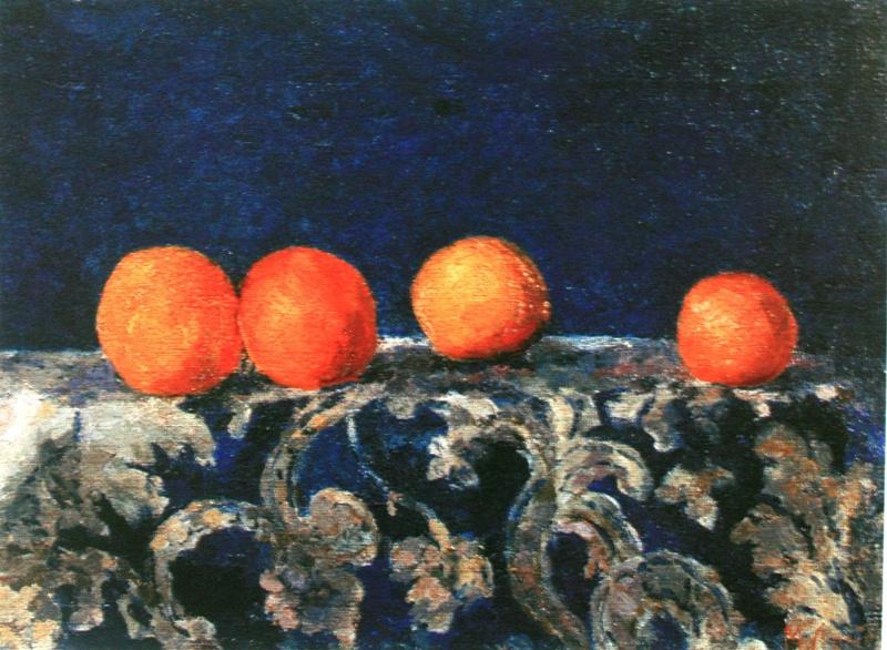 Михаил Федорович Ларионов. «Натюрморт с апельсинами» 1907-1908