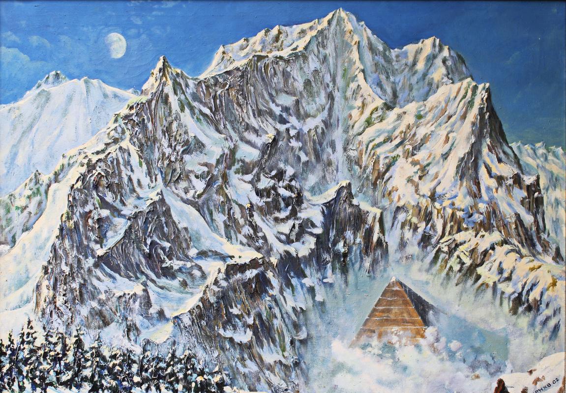 Лев Михайлович Карнаухов. Пирамида. холст,масло 110х65 2002