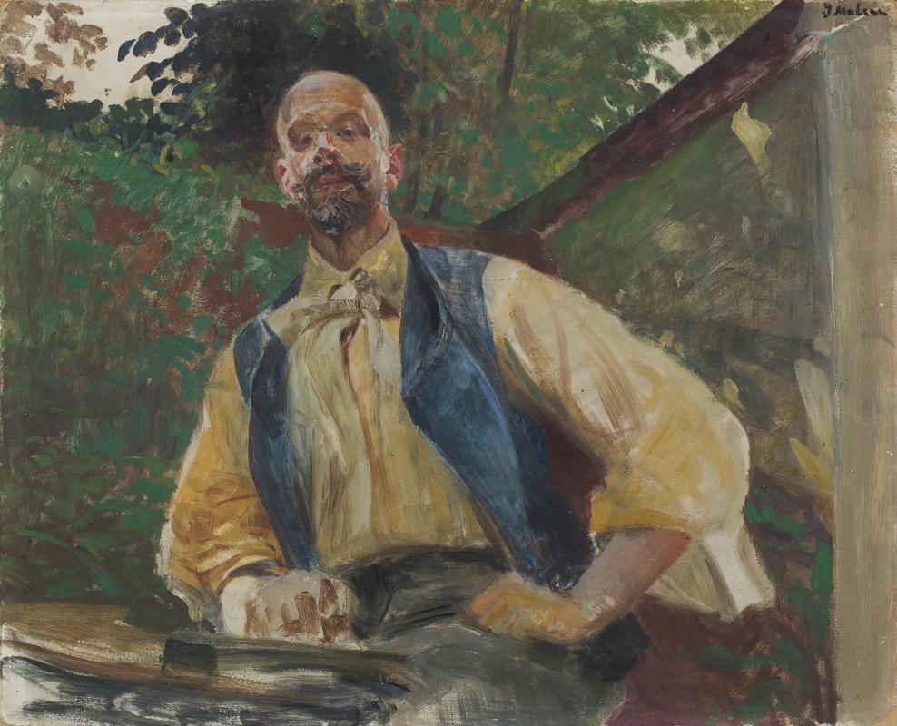 Яцек Мальчевский. Автопортрет в саду