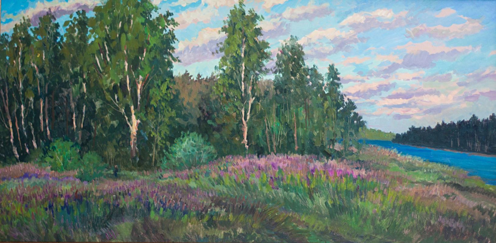 Vera Ivanovna Filippova. Fireweed blooms. K., M., 62х123, 2015