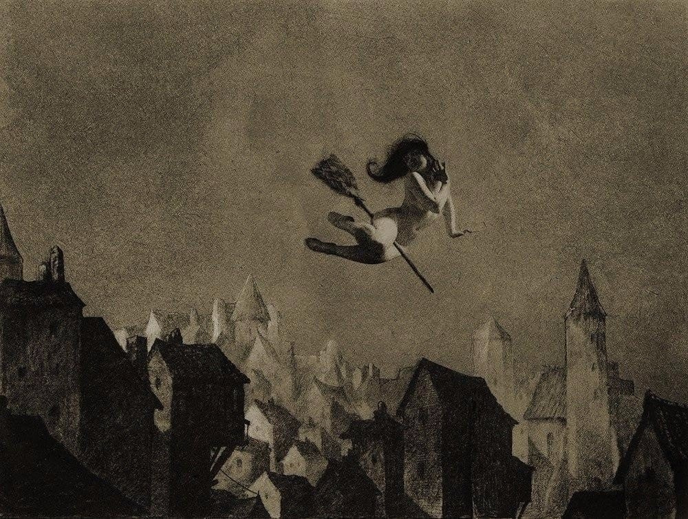 William Mortensen. Off for the Sabbot