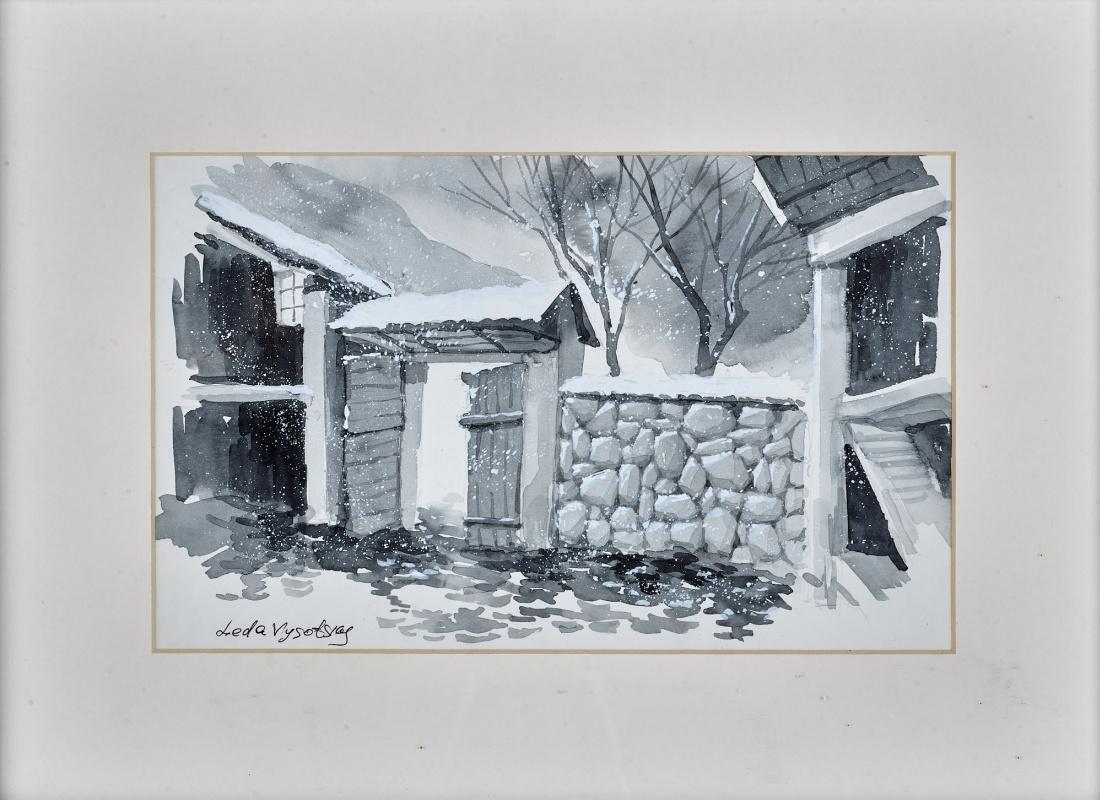 Leda Vysotsky. Gatehouse in Winter