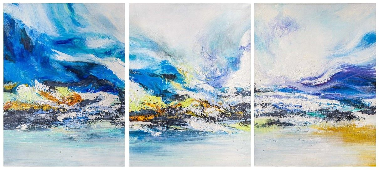 Brian dupre. There winds fly, touching the stars ... Triptych