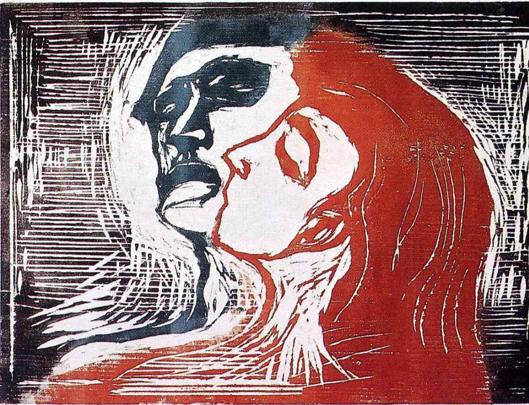 Edvard Munch. Man and woman I