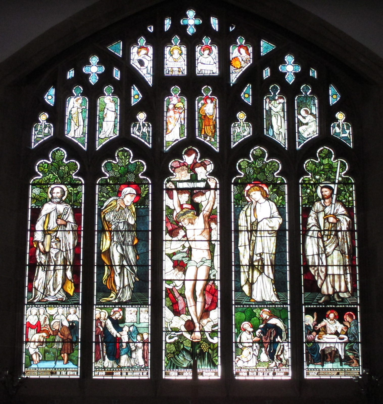 William Morris.  Fenêtre est de l'église de Jésus, Truthbeck, Cumbria (co-auteur avec Edward Burne-Jones et Ford Madox Brown)
