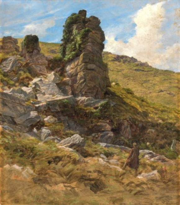Arthur Hughes. Among the rocks