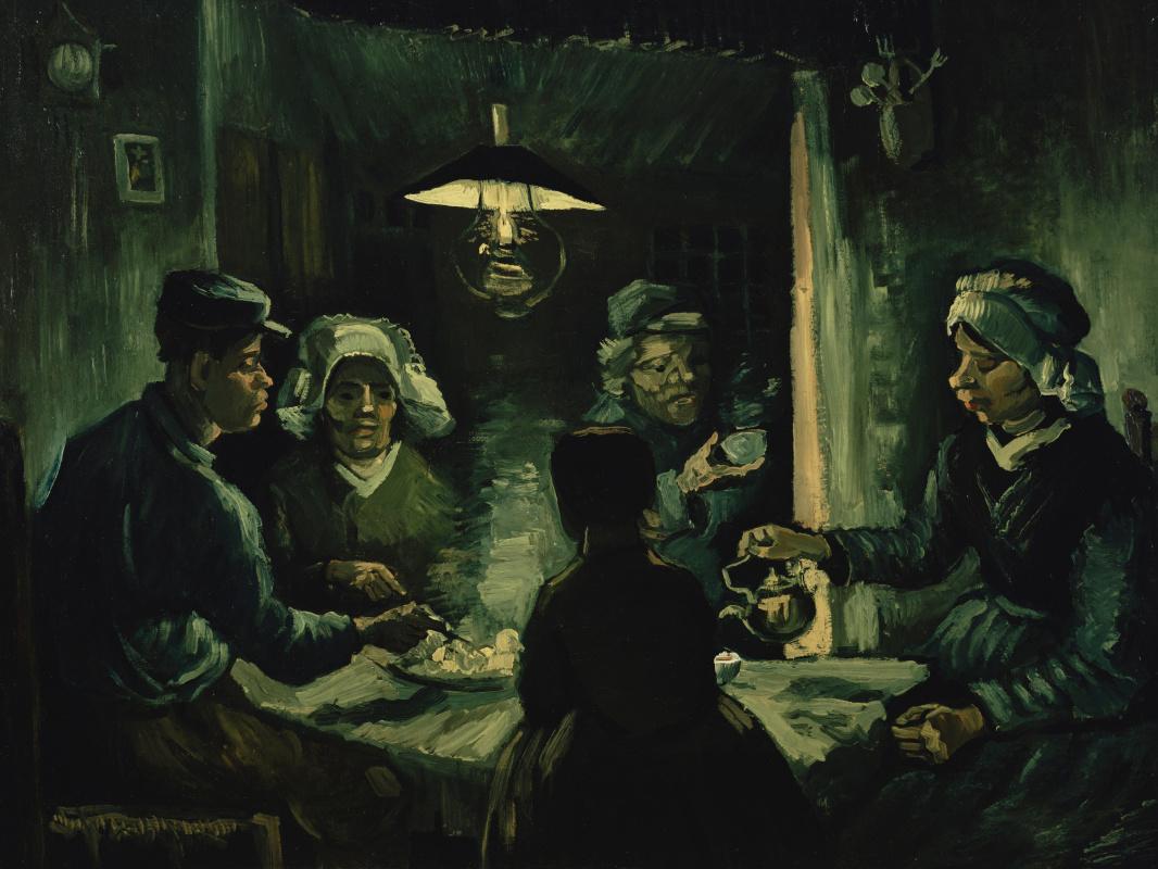 Винсент Ван Гог. Едоки картофеля (эскиз маслом)