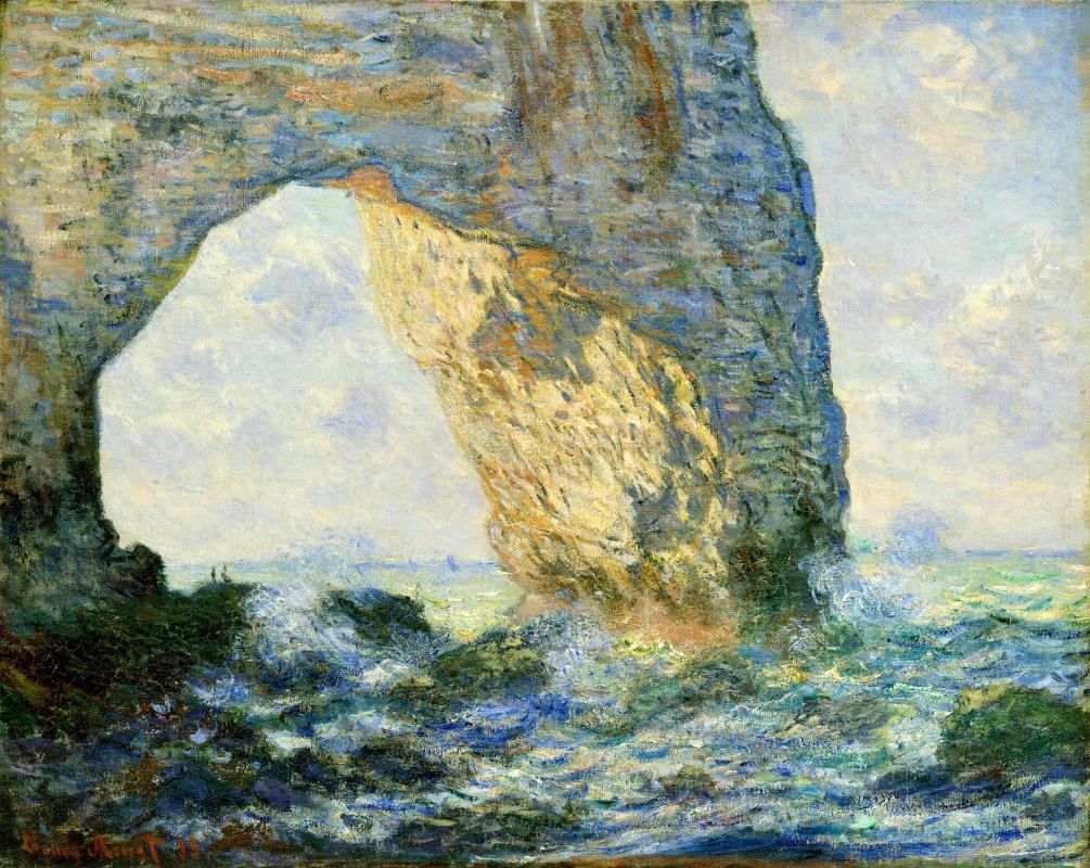 Клод Моне. Арка на запад от Этрета