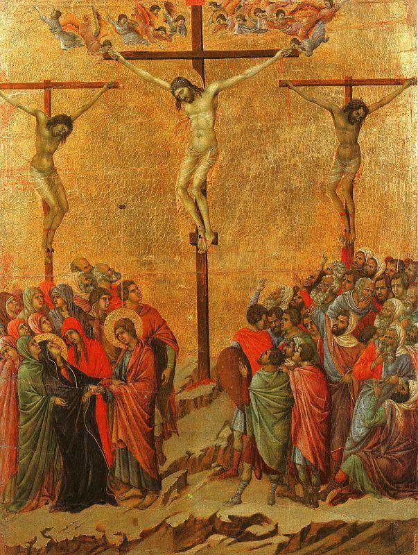 Duccio di Buoninsegna. Crucifixion
