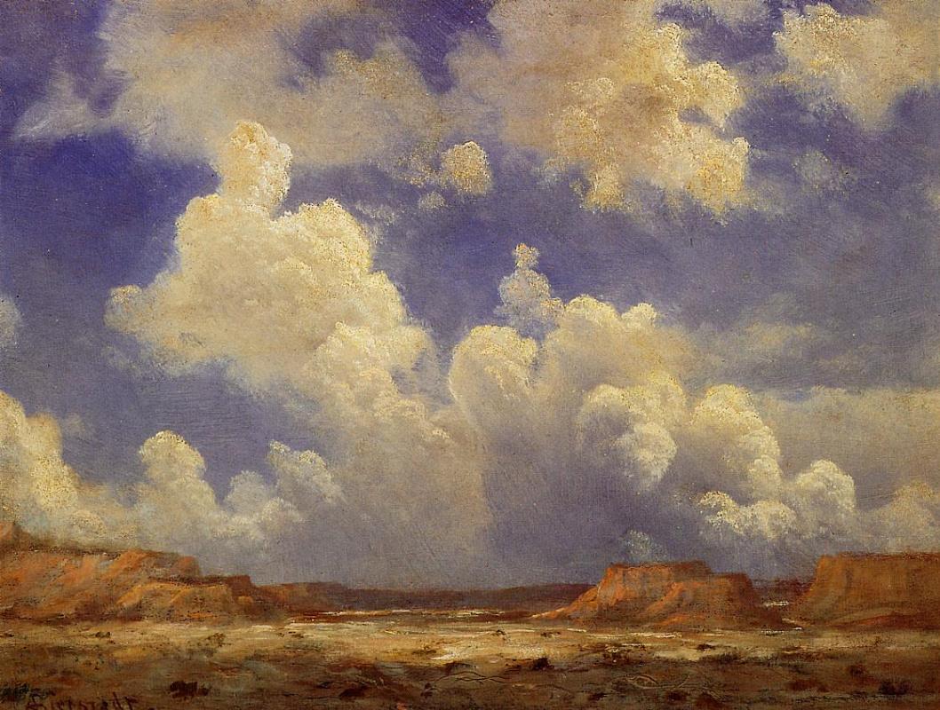 Альберт Бирштадт. Западный пейзаж. Облака