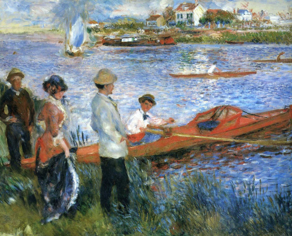 Pierre-Auguste Renoir. Rowers at Chatou