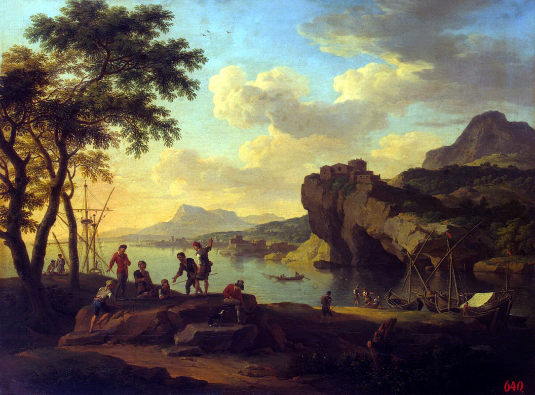 Якоб де Хейсх. Итальянская гавань