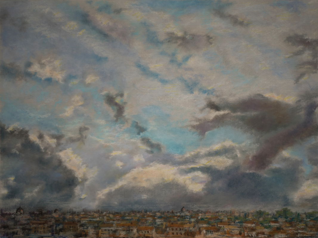 Albert Safiullin. The sky above Rome — a view from the hill of Rome