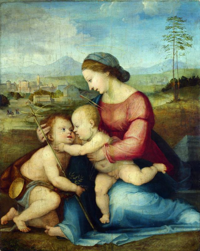 Фра Бартоломео. Мадонна с младенцем и Святой Иоанн