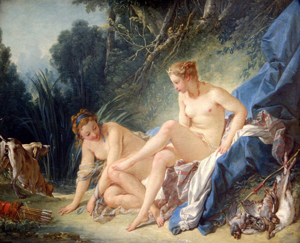 Francois Boucher. Bathing Diana