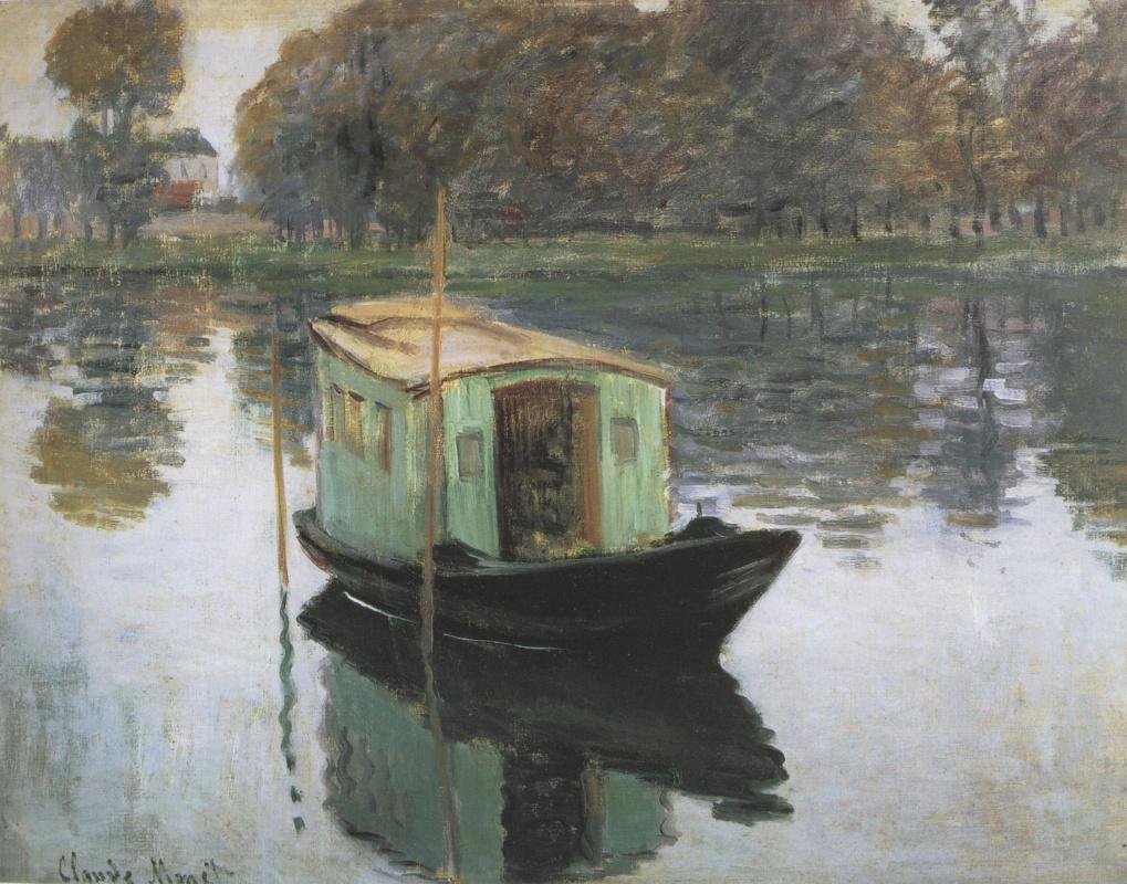 Клод Моне. Лодка-студия