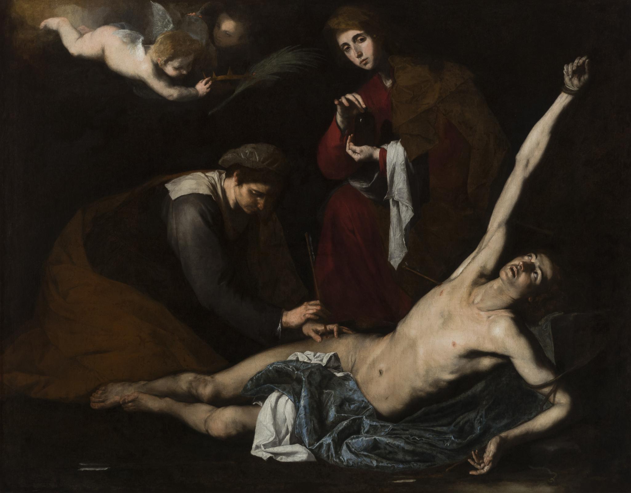 Хосе де Рибера. Святые женщины склоняются над святым Себастьяном