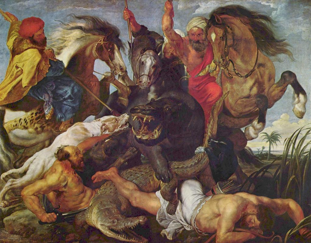 Peter Paul Rubens. Hunting for Hippo