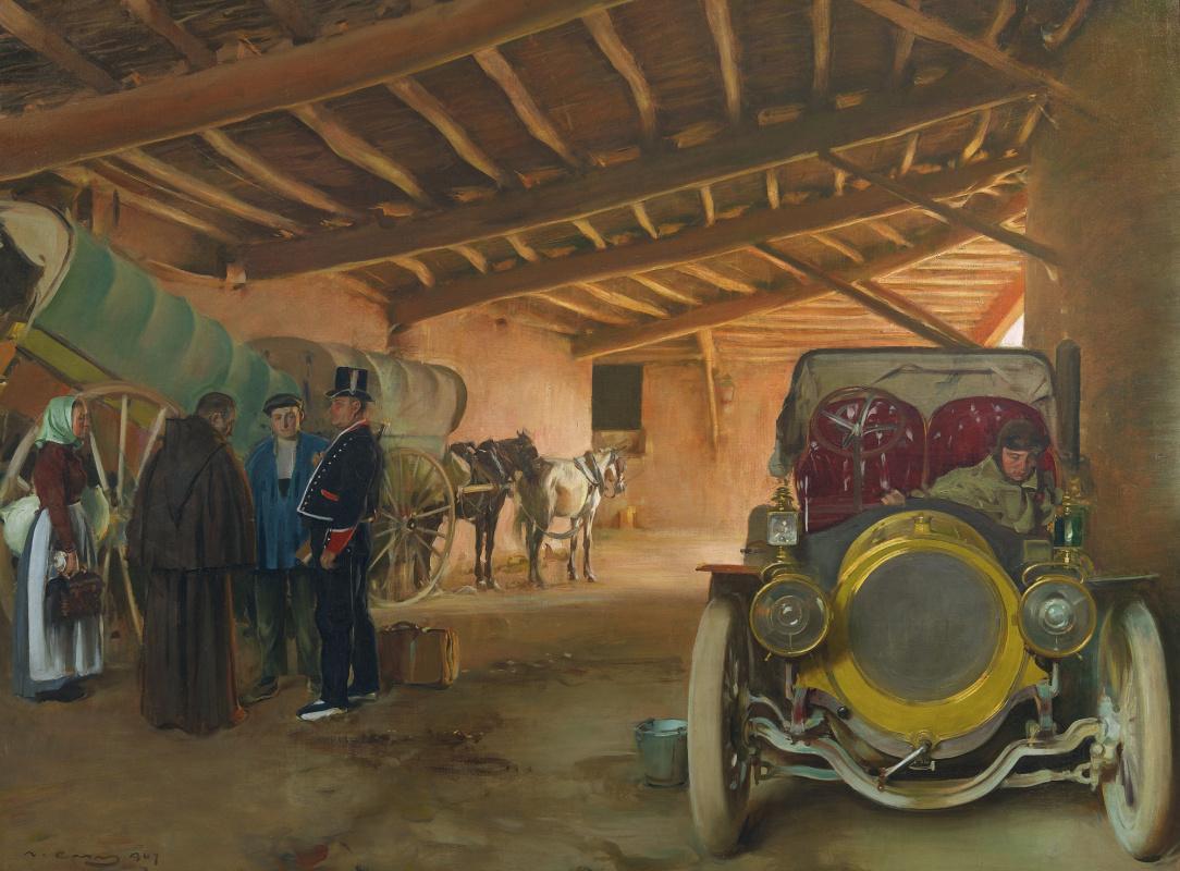 Рамон Касас Карбо. Испанский гараж