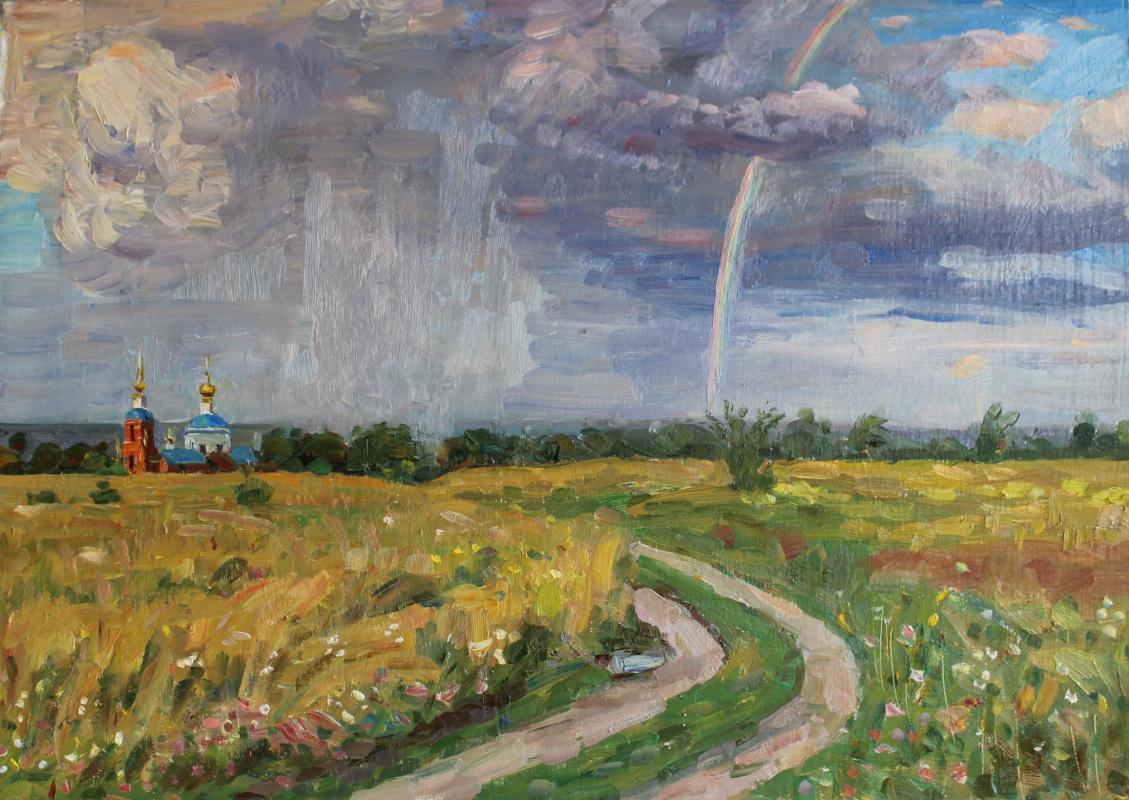 Eugene Alexandrovich Kazantsev. Evening. The road to Tulchino.