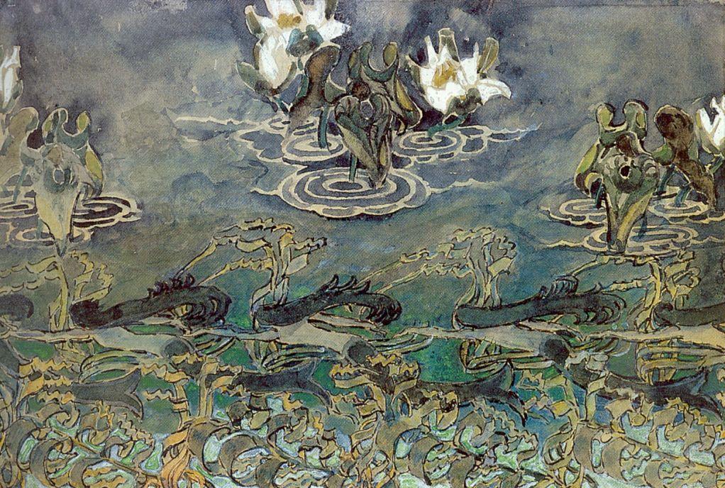 Mikhail Vrubel. Water lilies