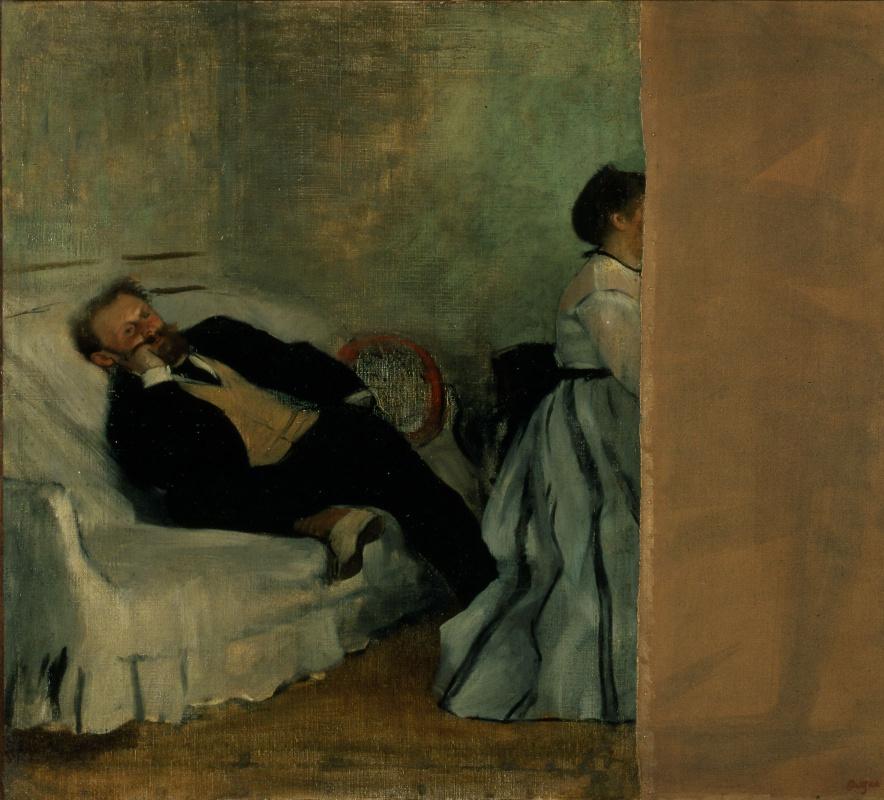Edgar Degas. Monsieur and Madame Manet
