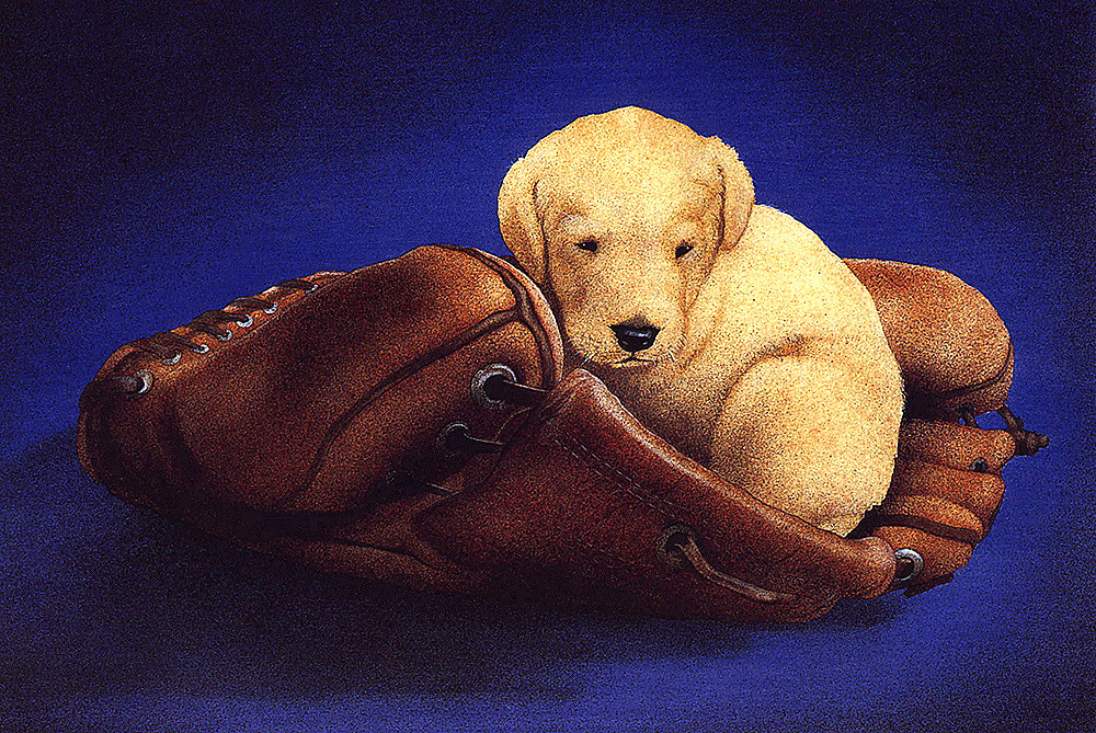 Will Bullas. Puppy and glove