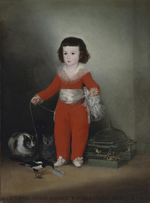 Francisco Goya. Don Manuel Osorio Manrique de zúñiga, child