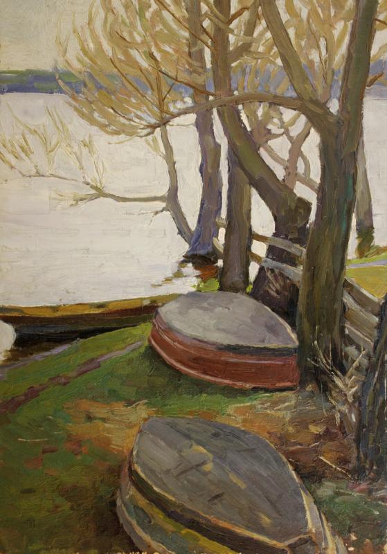 Boris Mikhailovich Vintenko. The trees above the river
