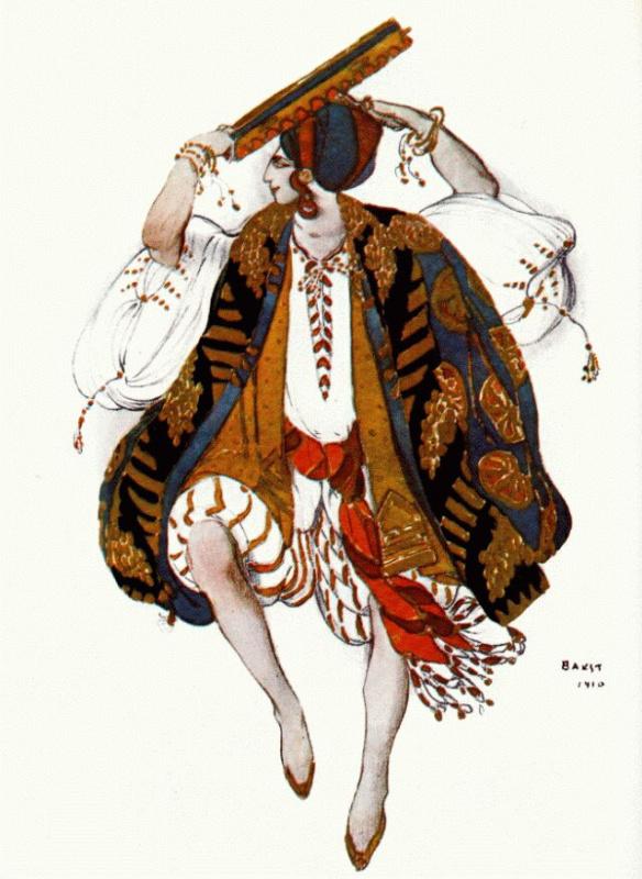 Лев Самойлович Бакст (Леон Бакст). Еврейский костюм. Клеопатра.