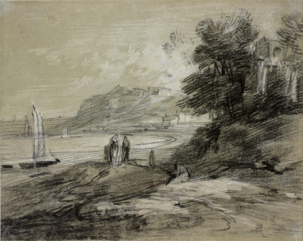 Томас Гейнсборо. Прибрежный пейзаж с лодками