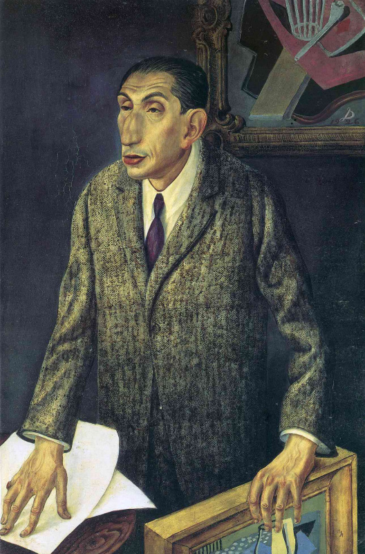 Отто Дикс. Портрет мужчины в пальто