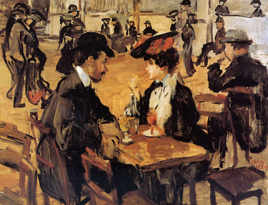 Исаак Исраэлс. Кафе с танцами Мулен де ла Галетт