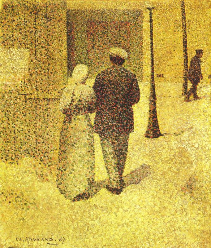 Шарль-Теофил Ангран. Мужчина и женшина на улице