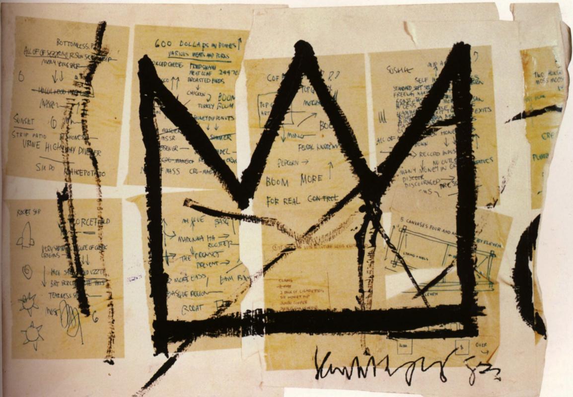 Jean-Michel Basquiat. Crown