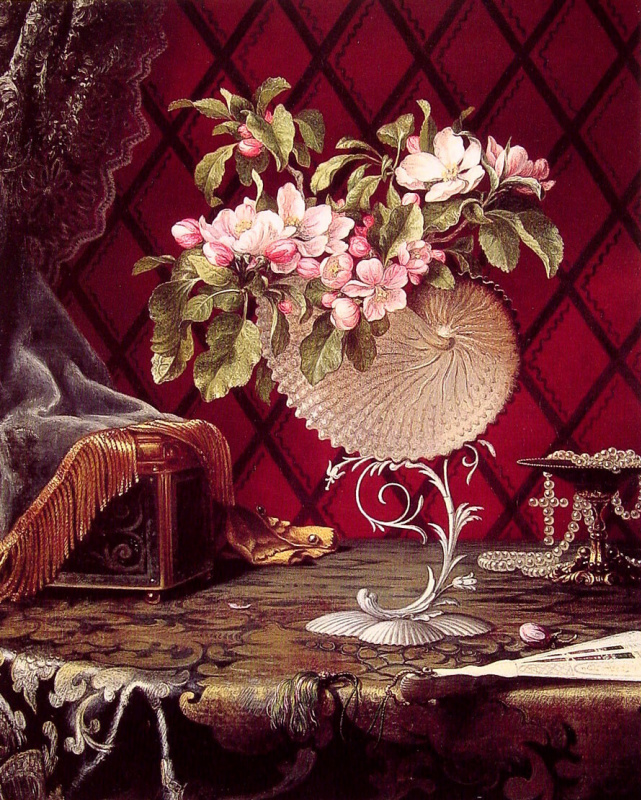 Мартин Джонсон Хед. Натюрморт с яблоневым цветом