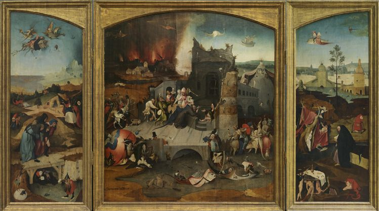 Anonymous followers Hieronymus Bosch. The temptation of St. Anthony