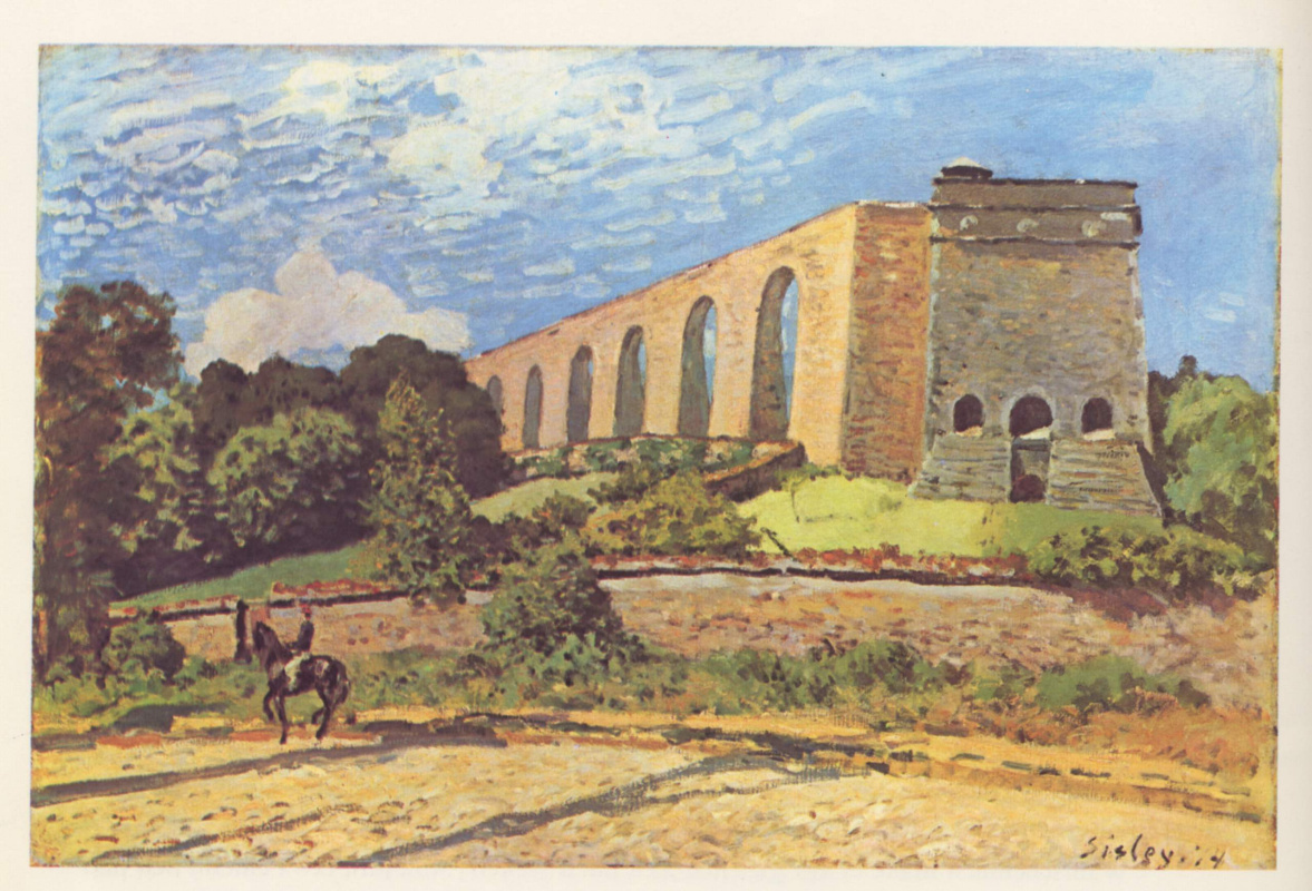 Alfred Sisley. Aqueduct in port-Marly