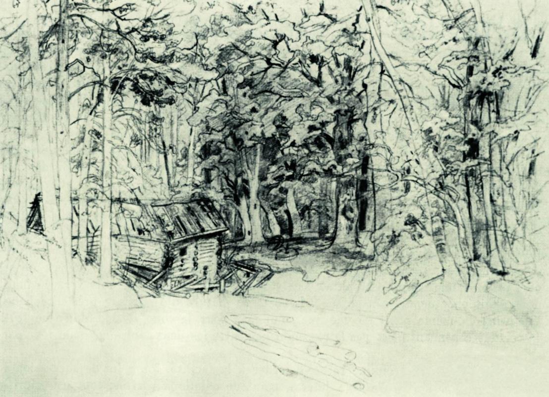 Иван Иванович Шишкин. Эскиз к картине 1898 года