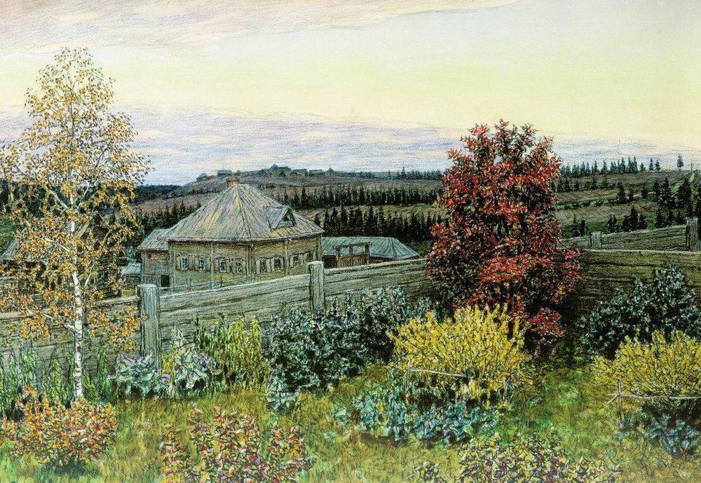 Аполлинарий Михайлович Васнецов. Вид из окна столовой