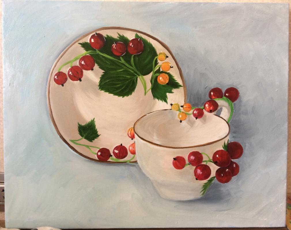 Ulviya Rasulovna X. Cup and saucer