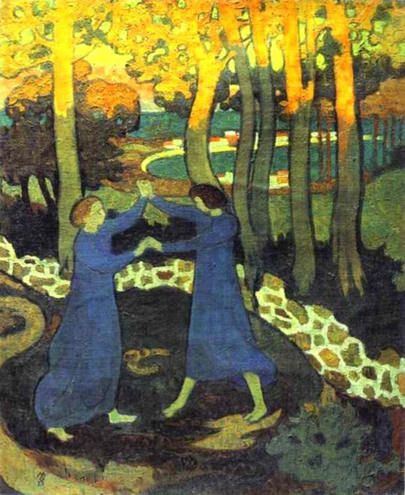 Maurice Denis. Jacob wrestling with the Angel