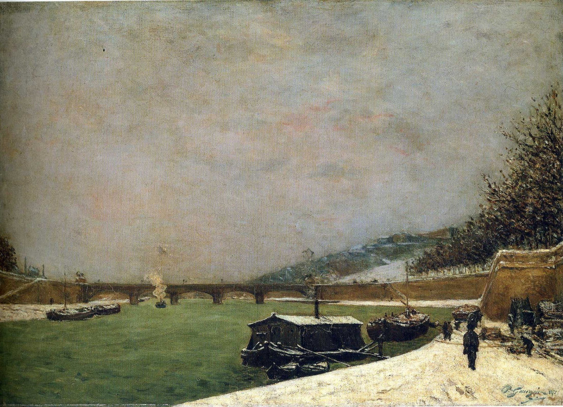 Paul Gauguin. The Seine at the Pont d'Iena