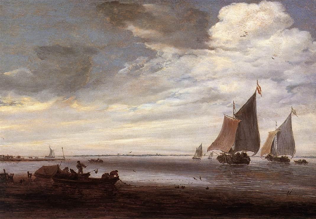 Саломон ван Рёйсдал. Речная сцена2