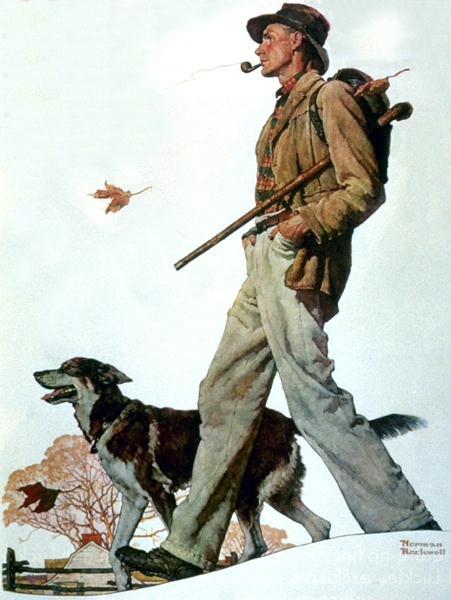 Norman Rockwell. Autumn walk