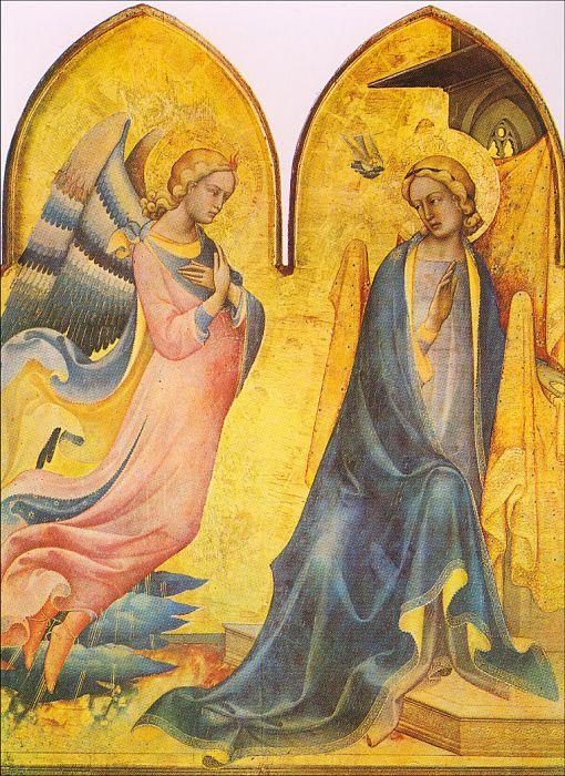 Лоренцо Монако. Богородица и Архангел