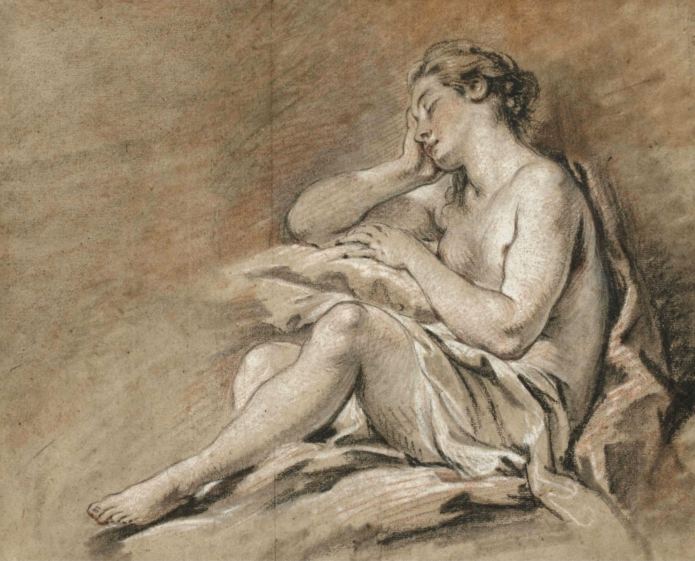 Francois Boucher. Sleeping young woman