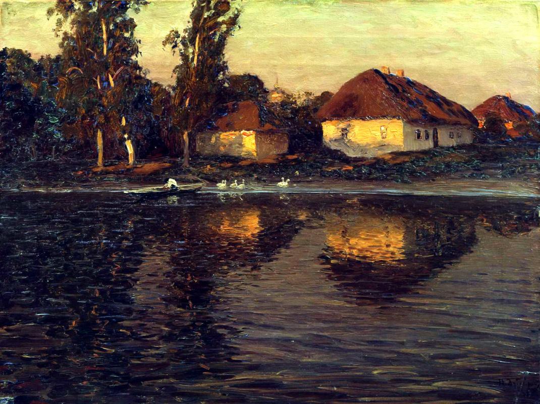 Nikolay Dubovskoy. Evening in Ukraine