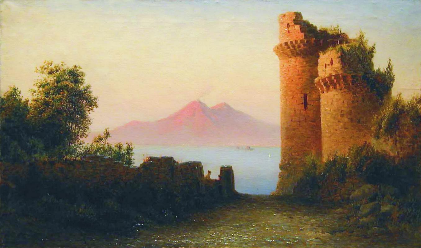 Лев Феликсович Лагорио. Старая крепость на фоне Везувия